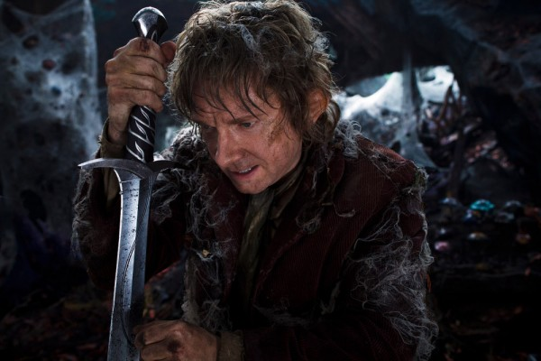 """MARTIN FREEMAN as the Hobbit Bilbo Baggins in New Line Cinema's and Metro-Goldwyn-Mayer's fantasy adventure """"THE HOBBIT: THE DESOLATION OF SMAUG,"""" a Warner Bros. Pictures release."""