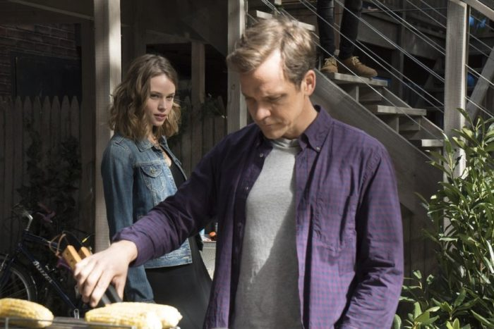 The Slap - (l-r) Mackenzie Leigh as Connie, Peter Sarsgaard as Hector