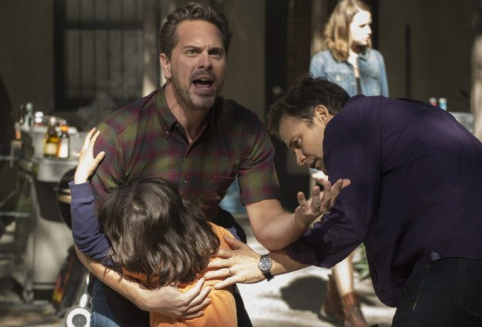 "THE SLAP -- ""Hector"" Episode 101 -- Pictured: (l-r) Thomas Sadoski as Gary, Peter Sarsgaard as Hector"
