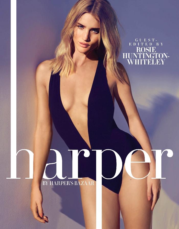 Rosie Huntington-Whiteley Harpers Bazaar
