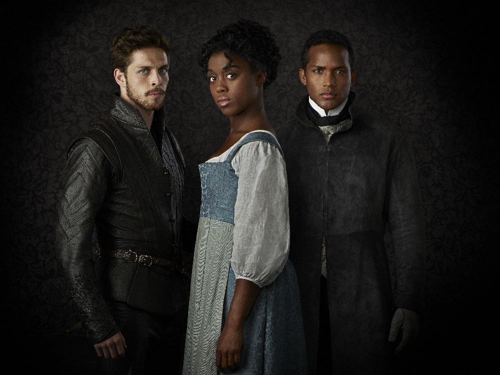 "STILL STAR-CROSSED - ABC's ""Still Star-Crossed"" stars Wade Briggs as Benvolio, Lashana Lynch as Rosaline and Sterling Sulieman as Prince Escalus."