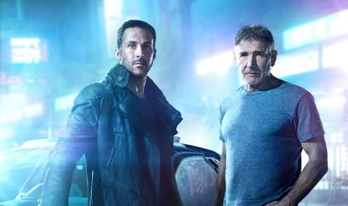 """(L-R) RYAN GOSLING as K and HARRISON FORD as Rick Deckard in Alcon Entertainment's """"BLADE RUNNER 2049,"""" a Warner Bros. Pictures and Sony Pictures Entertainment release"""