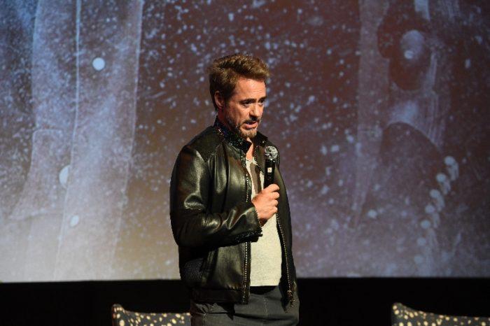 """Actor Robert Downey Jr. speaks onstage at """"Wind River"""" special screening at SCADShow on November 29, 2017 in Atlanta, Georgia"""