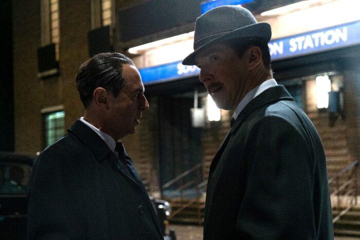 Merab Ninidze and Benedict Cumberbatch in The Courier